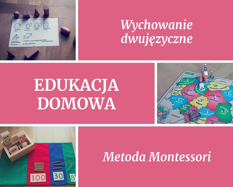 """Dwujęzyczna edukacja domowa + metoda Montessori - jak to wygląda w praktyce? Przykładowe materiały do tematu """"księżyc i układ słoneczny"""""""