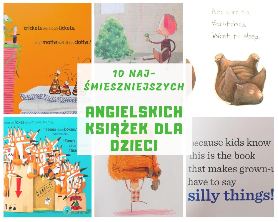 Wybór najlepszych śmiesznych angielskich książek dla dzieci