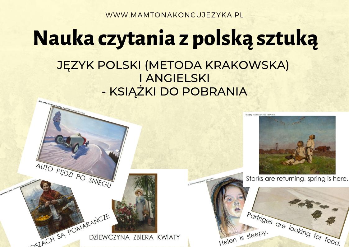 [do druku] Książeczki do nauki czytania Metodą Krakowską/Domana/Montessori z dziełami sztuki Muzeum Narodowego w Warszawie + wersja anglojęzyczna