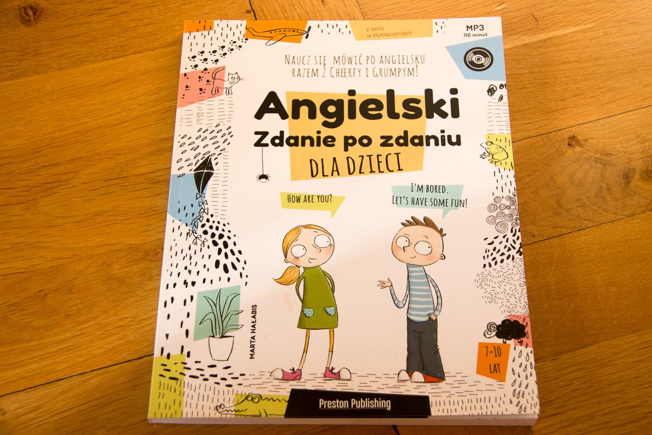 """""""Angielski dla dzieci - zdanie po zdaniu"""" - książka z płytą dla dzieci i rodziców uczących w domu + niespodzianka"""