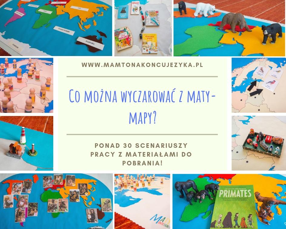 Fascynująca nauka z mapą na podłodze, czyli ponad 30 scenariuszy pracy z matami Montessori + karty do pobrania!