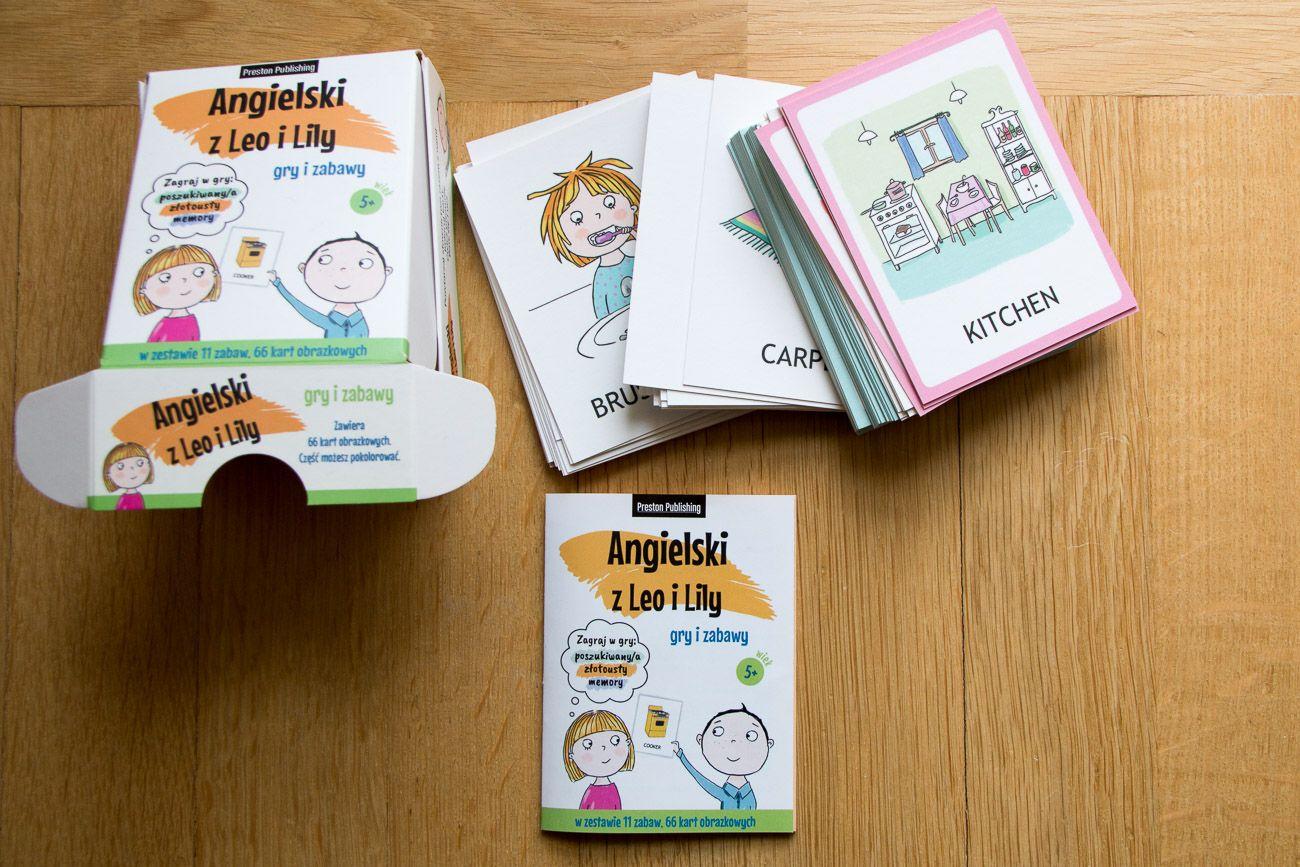 Gry i zabawy - angielski z Leo i Lily: karty z zestawem gier