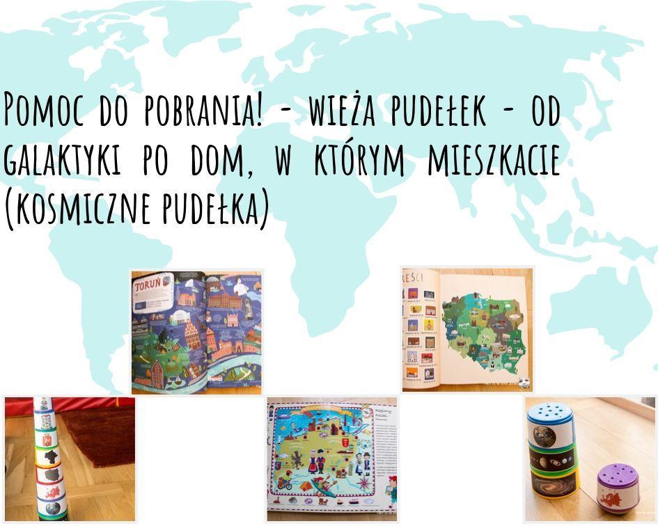 Czy twoje dziecko wie gdzie mieszka? Jak tłumaczę co to dom, miasto, województwo, kraj?  DIY pudełka kosmiczne do pobrania!