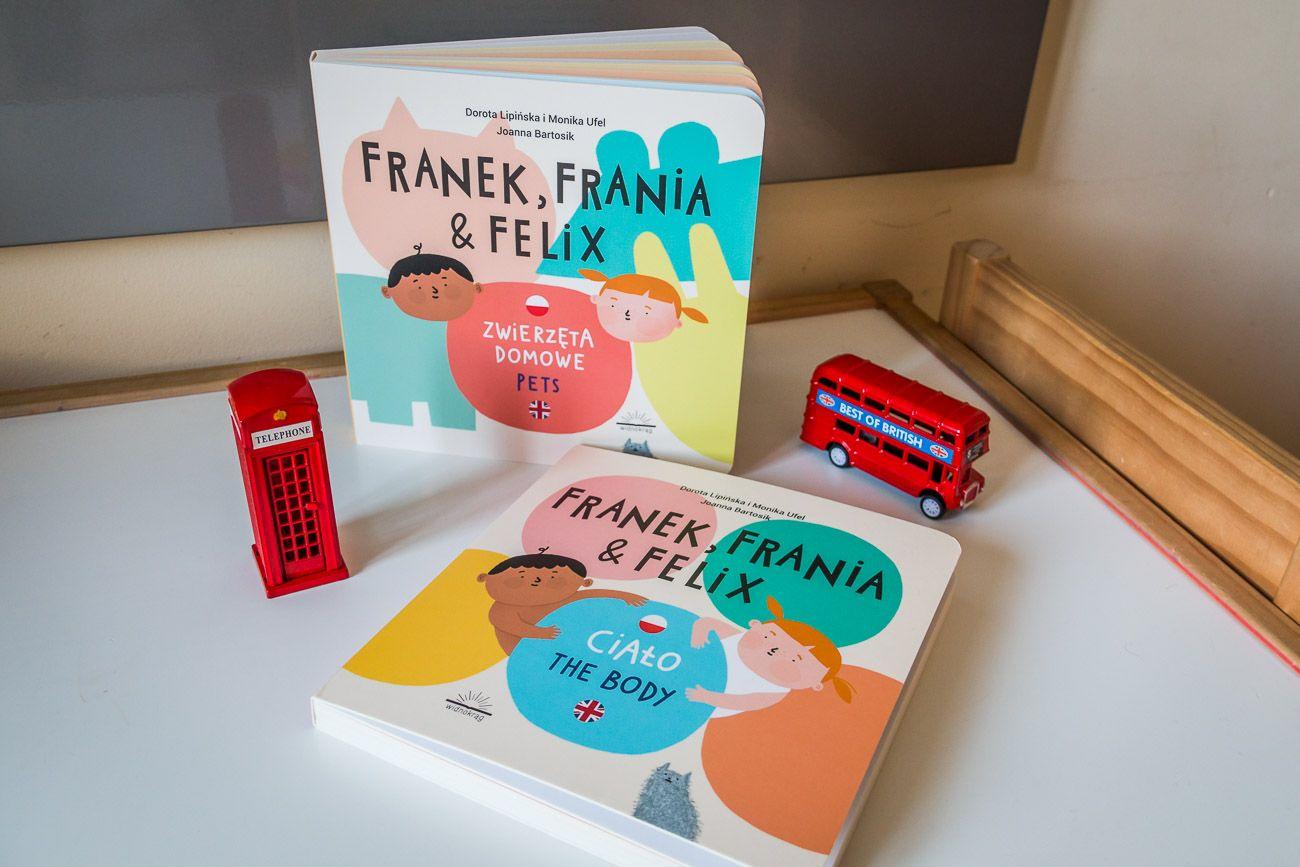 Franek, Frania i Felix - nowa dwujęzyczna seria dla rozpoczynających naukę angielskiego