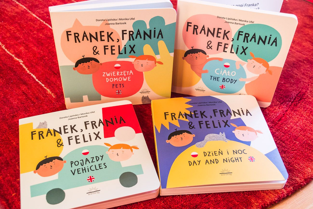 Franek, Frania i Felix - nowe tomy dwujęzycznych książek dla maluchów